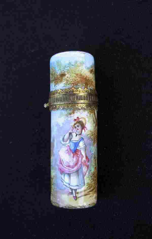 Viennese Enamel Perfume Bottle