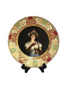 Royal Vienna Porcelain Plate signed by Wagner