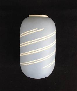 """Wedgwood """"Symmetry"""" Blue Jasperware Vase"""