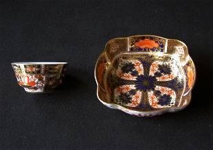 English Royal Crown Derby Imari Miniature Bowls