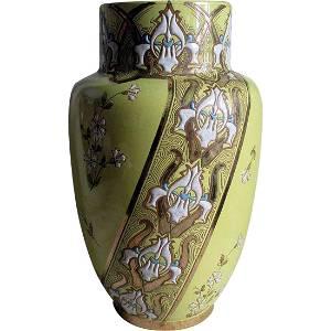 Antique French Art Nouveau Vase, Luneville