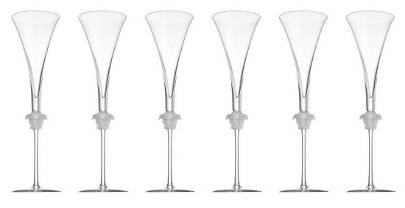 Set 6 Rosenthal Meets Versace Lumiere Champagne Glasses