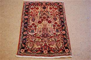 Antique Fine Persian Sarouk Ferahan Rug 2x3.3 Kork