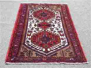 Highly Detailed Hand Woven Persian Hamadan 5.4 X 3.5