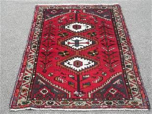 Handmade Persian Hamadan 4.10 X 3.2