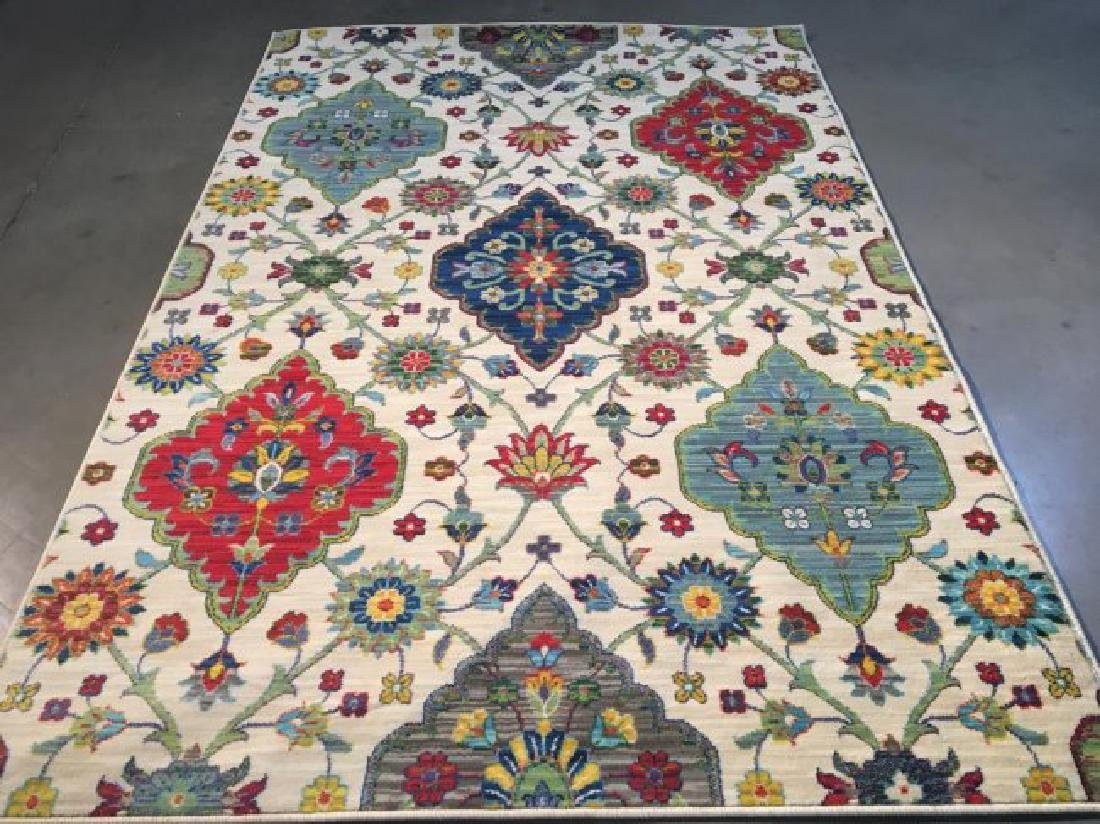 Decorative Colorful Transitional Design Rug 6x8