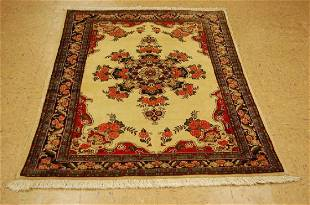 Antique Kork Wool, High Kpsi Persian Bijar Rug 3.8x5.2