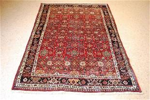 Antique Village Woven Persian Bijar Rug 4.5 x 6.6