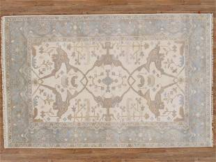 6 X 9 Beautiful Oushak Area Rug Made By Hand