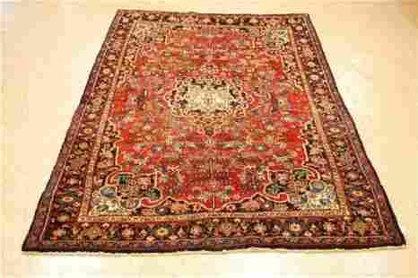 Antique Kork Wool Persian Bijar Rug 4.4x6.10