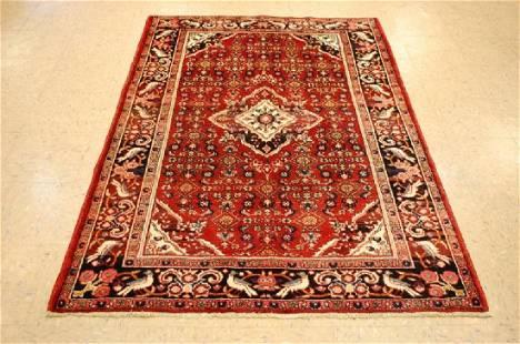 Antique High Kpsi Persian Bijar Rug 4.5x6.5