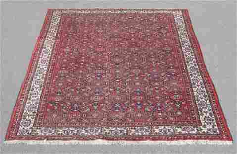 Semi Antique Persian Hosseinabad Rug 7x10.3
