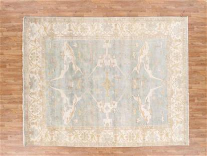 8 X 10 Stunning Handknotted Wool Oushak Rug