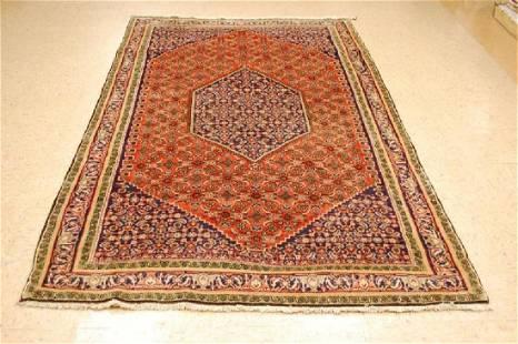 Antique Highly Detailed Persian Bijar Rug 5.1x8.10