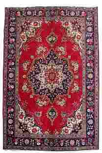 Persian Tabriz Carpet Handmade Rug 7x10