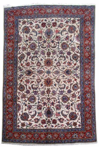 Sarouk Wool On Cotton, Handmade Rug, 8' X 12'
