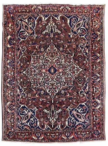 Persian Bakhtiari Carpet, Hand Knotted, 9' X 12'