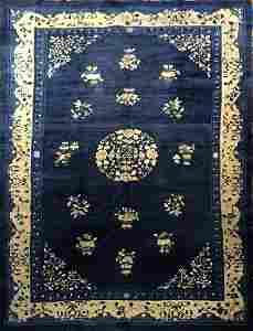 Antique Chinese Peking Rug 8.7 x 5.11