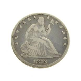 824 Liberty Seated Half Dollar Coin