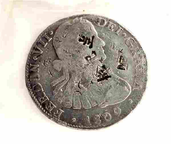 1809 Eight Reales First Silver Dollar Coin