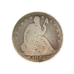 1855-O Liberty Seated Arrows At Date Half Dollar Coin