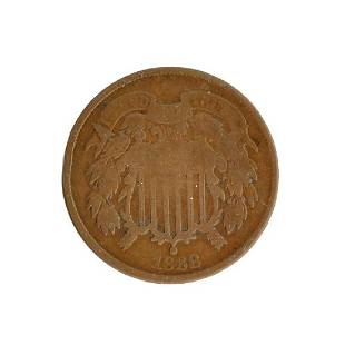 1868 Two-Cent Coin