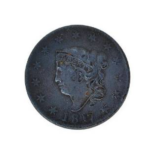 Rare 1817 Large Cent Coin