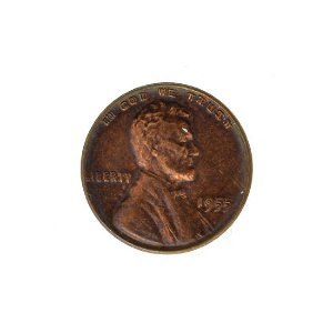 1955 Double Die Lincoln Cent Coin - Extremely Rare -