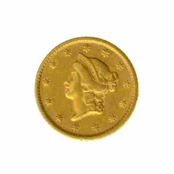 1852 $1 U.S. Liberty Head Gold Coin - Great Investment