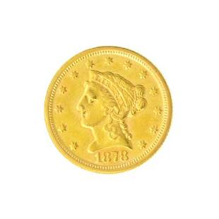 1878 $2.50 U.S. Liberty Head Gold Coin - Great