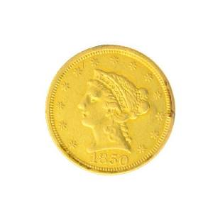 1850 $2.50 U.S. Liberty Head Gold Coin - Great