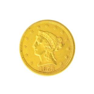 1853 $2.50 U.S. Liberty Head Gold Coin - Great