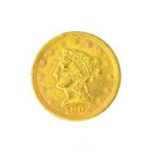 1902 $2.50 U.S. Liberty Head Gold Coin - Great