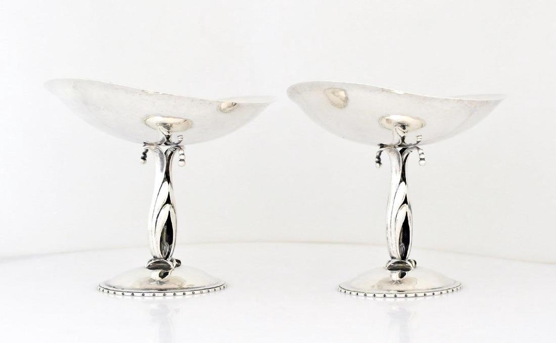 Pair Cellini Craft Chicago Sterling Tazzas