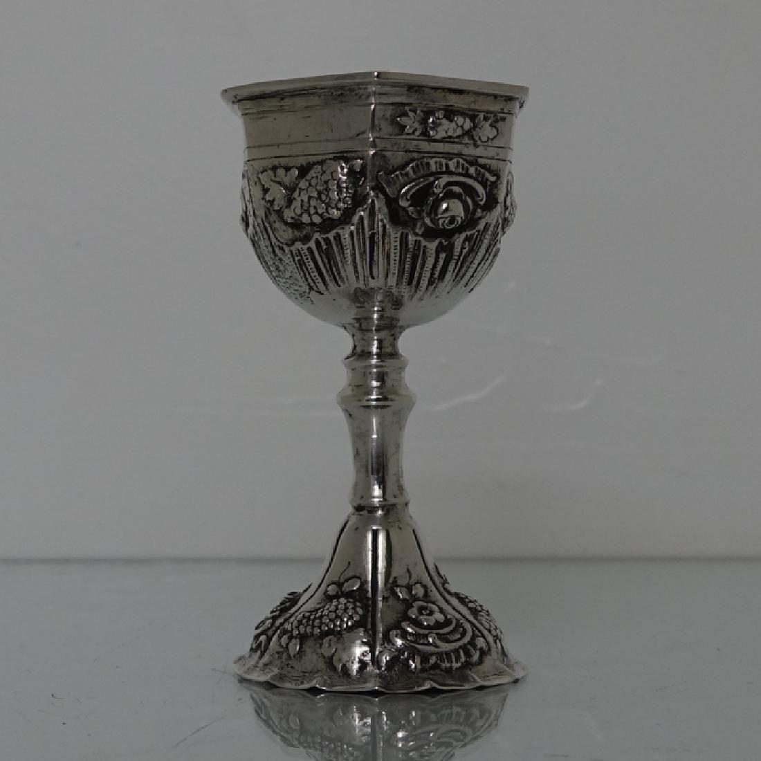 19th Century German Silver Kiddush Cup Circa 1895