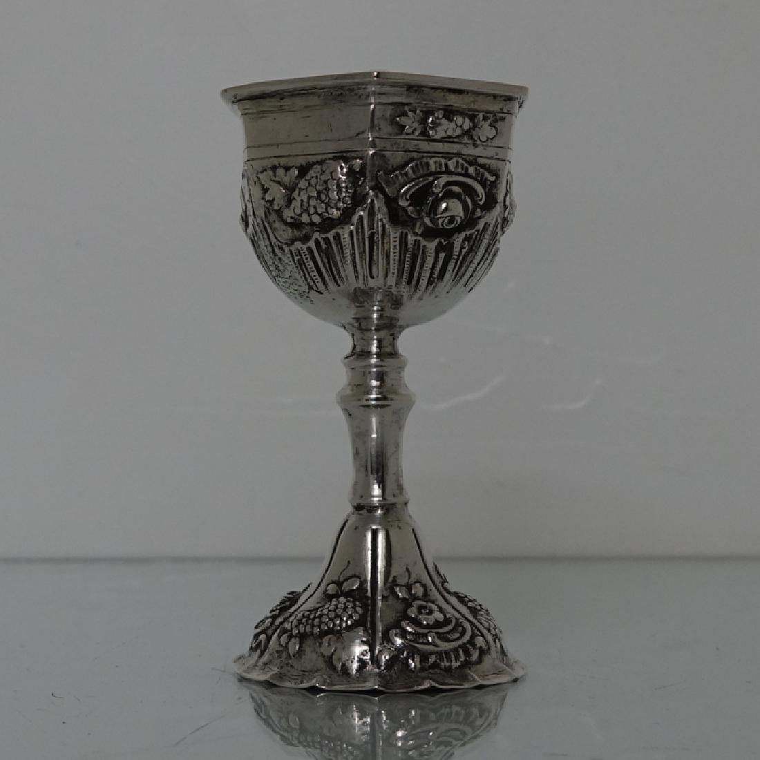 19th Century German Silver Kiddush Cup Circa 1895