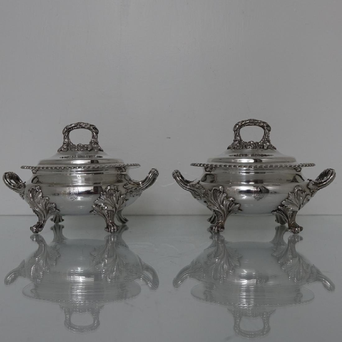 19th Century Old Sheffield Sauce Tureens, H Wilkinson