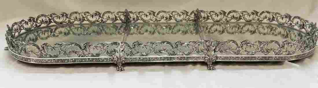 Silver Plate Sectional Mirror Plateau