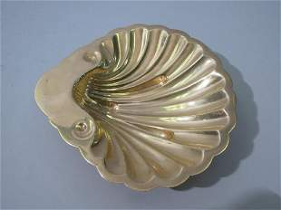 S. Kirk & Son Gilded Sterling Shell Dish