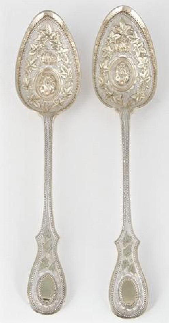 Antique English Sterling Silver Berry Spoons