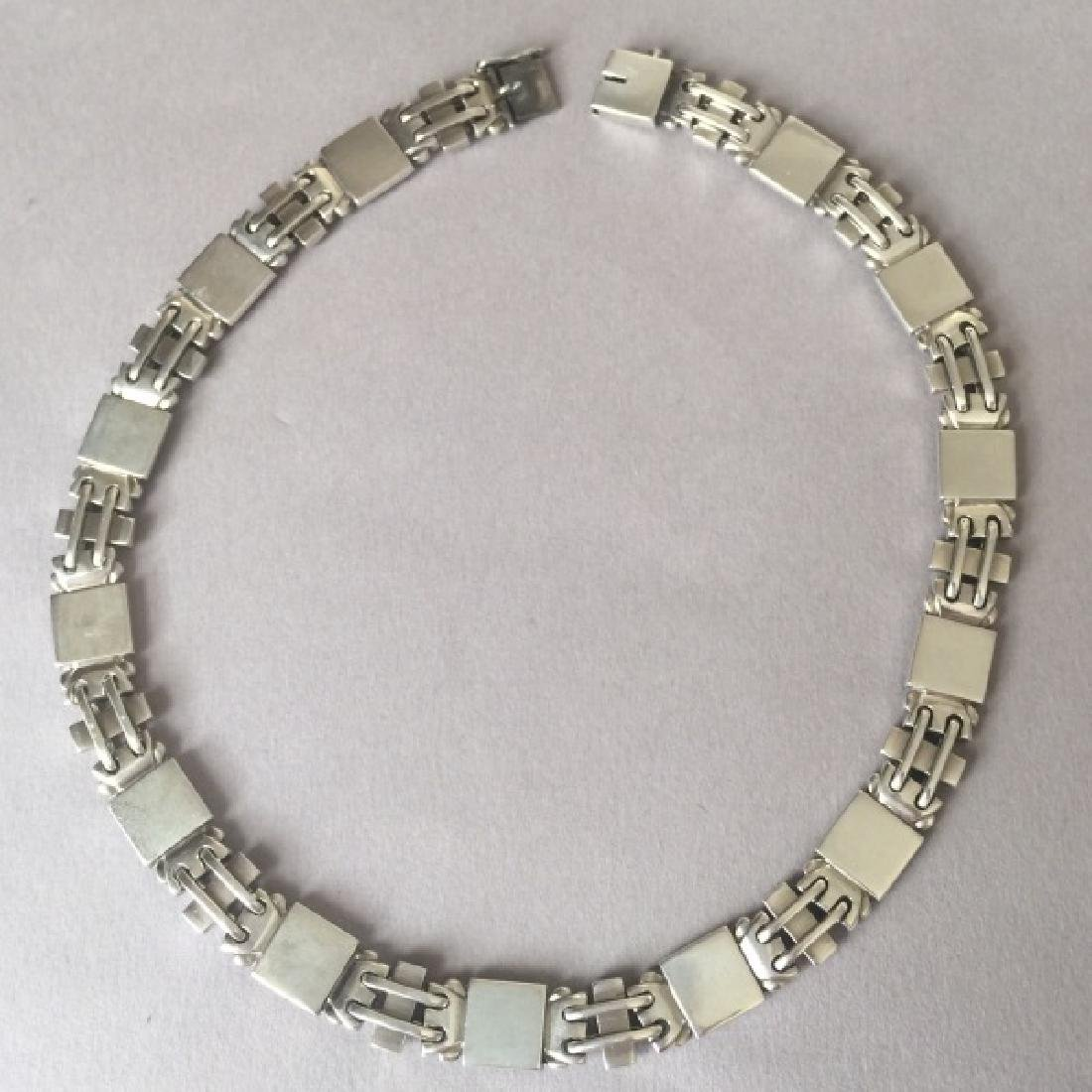 Georg Jensen Sterling Silver Art Deco Necklace
