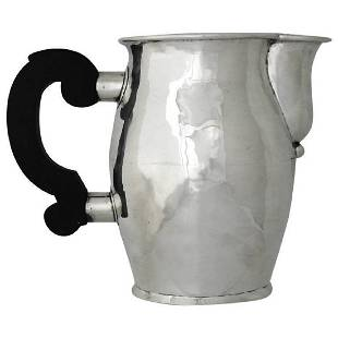 William Spratling Hand-Wrought Sterling Silver Pitcher