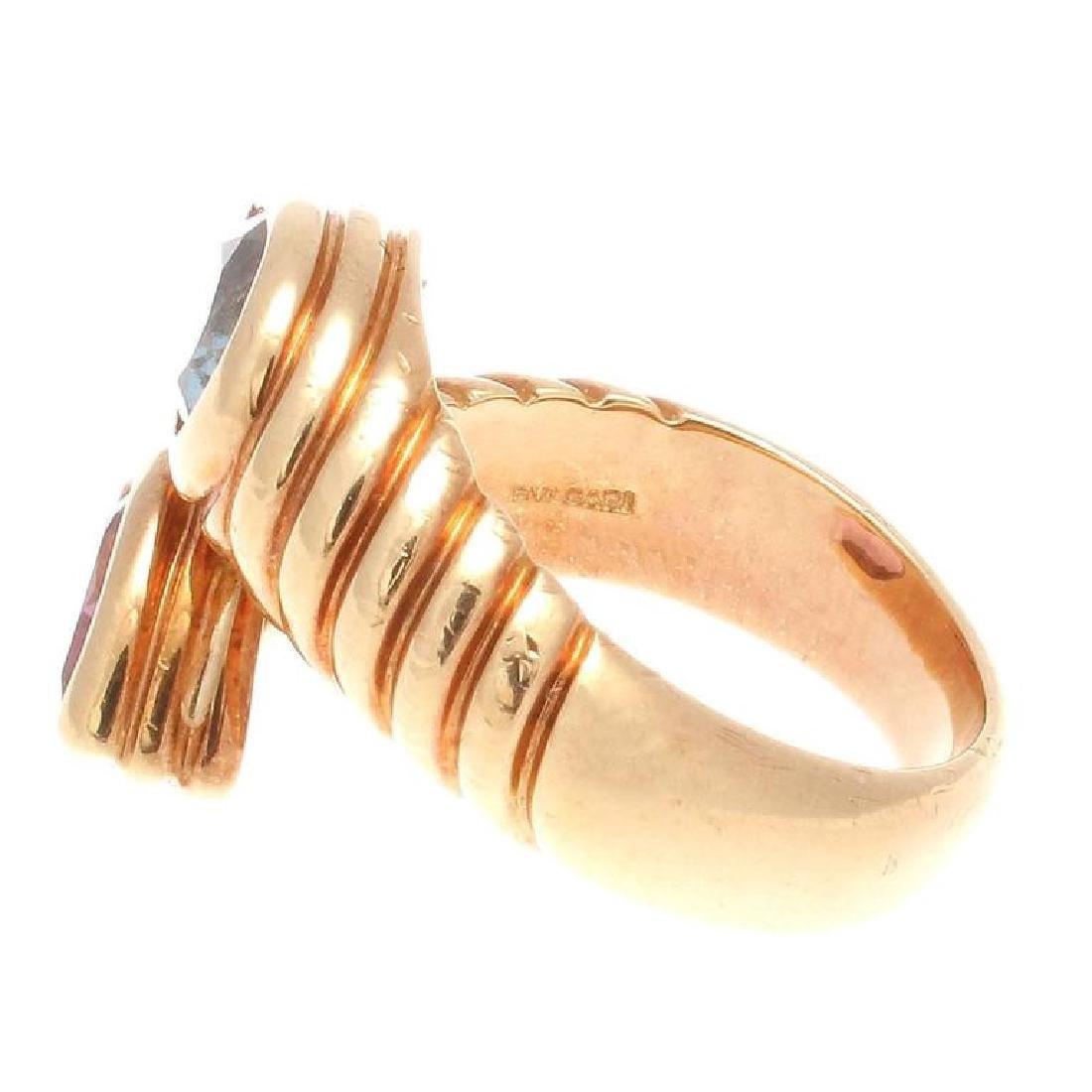 Bulgari 18K Gold TopazTourmaline Snake Ring - 3