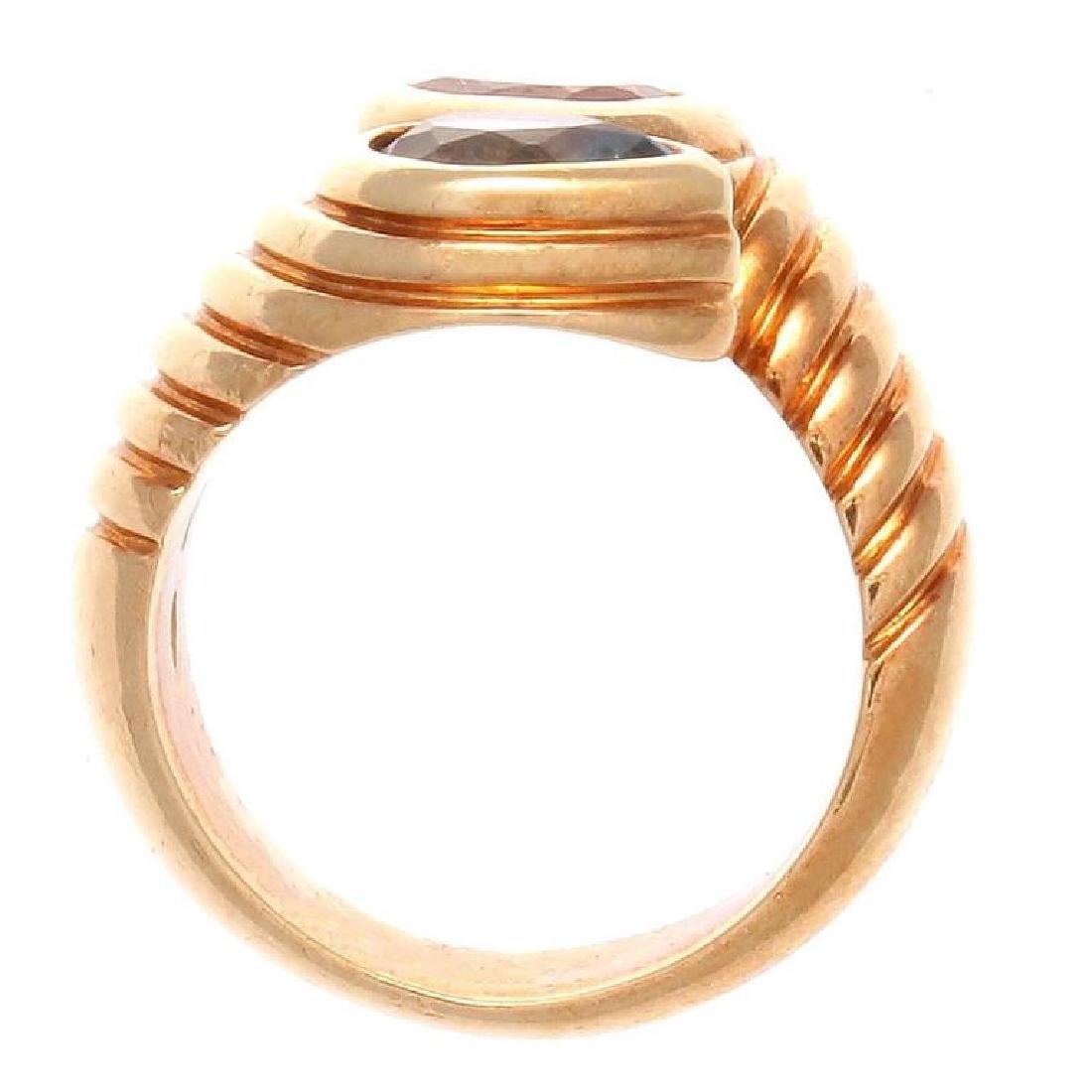 Bulgari 18K Gold TopazTourmaline Snake Ring - 4
