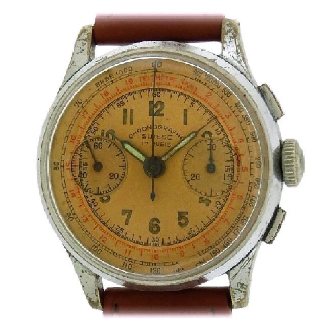 CHRONOGRAPH SUISSE | Copper Dial Chronograph | 1940s