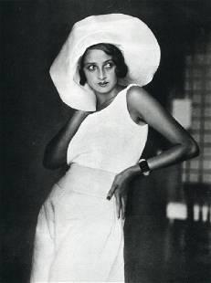 JH LARTIGUE - Actress Renee Divrac, Biarritz 1931