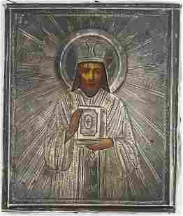 St John Chrysostom Oklad Russian Icon, 1900