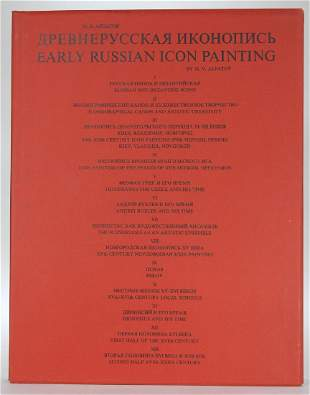 M.V. Alpatov: Early Russian Icon Painting Book