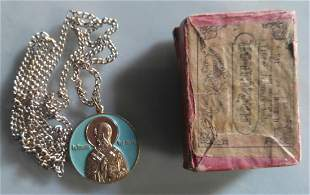 St Nicholas Pendant With Chain and Box