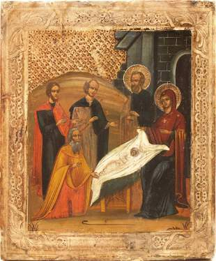 Christmas Russian Icon, 19th C
